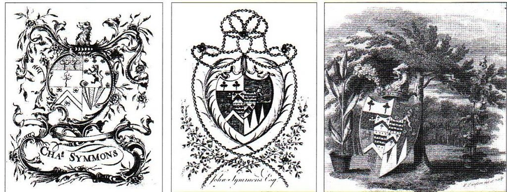Fig. 3: Bookplates of Charles and John Symmons.