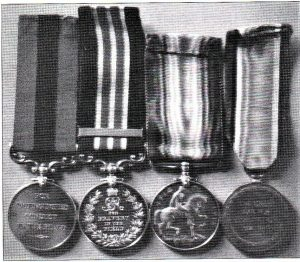 Fig 3: Ben Rees's medals.