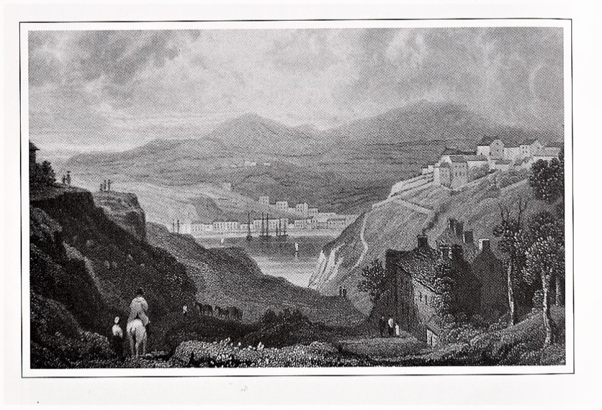 Upper and Lower Town of Fishguard. Drawn by H. Gastineau, engraved by H.Alard. 1830